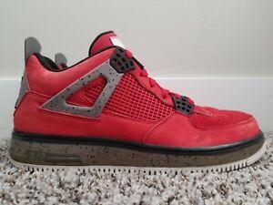 d170458f477 Air Jordan Force AJF 4 Premier Varsity Red Cement Gray 384393 601 ...