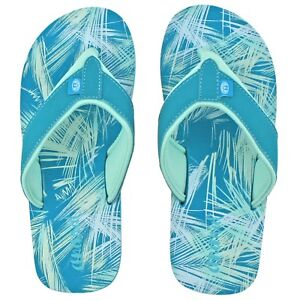07672a6ad4f329 GIRLS ANIMAL SWISH UPPER AOP BLUEBIRD FLIP FLOPS TOE POST SANDALS ...