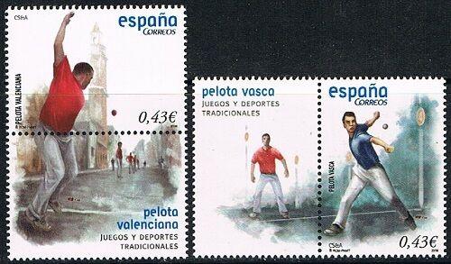 [CF4226] España 2008, Serie Juegos: pelota valenciana y vasca (**) UNC