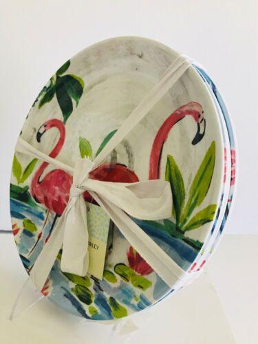 Cynthia Rowley Pink Flamingo MELAMINE Plates Bowls Dinnerware You Pick NEW