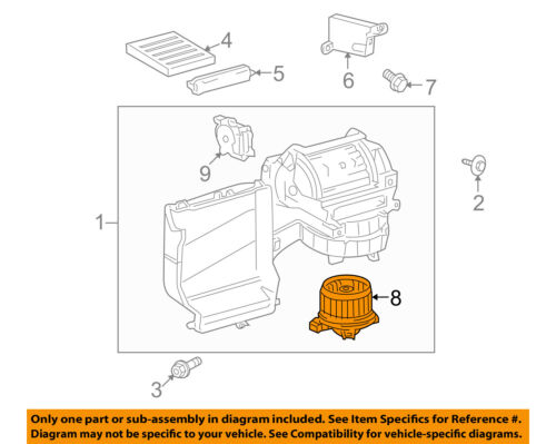 TOYOTA OEM 08-18 Sequoia-Blower Motor 871030C051