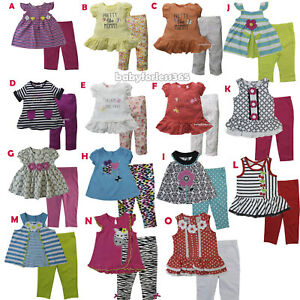 Kid-Headquarters-Baby-Girl-Shirt-Legging-Size-3-6-9-12-18-24-months-2T-3T-4T-5-6