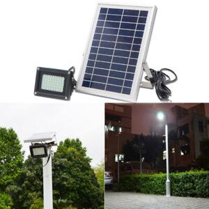 136 LED Solarleuchte mit Bewegungsmelder Gartenstrahler Außenleuchte Wandleuchte