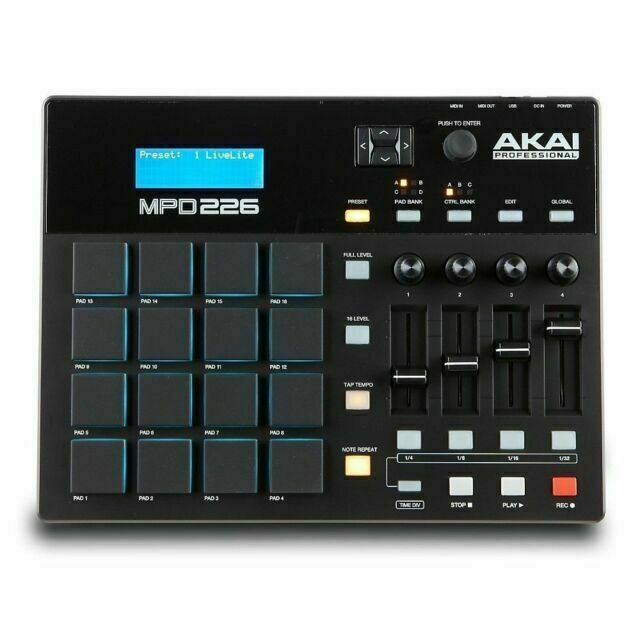 Akai Professional MPD226 Midi Pad Controller with 16 MPC Pads