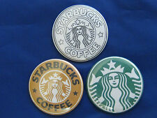 "Starbucks Green, Orange and White Pinback Buttons Badges 2.25""  java joe coffee"