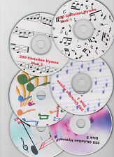 250 Christian Hymns instrumental piano and organ 6 CDs