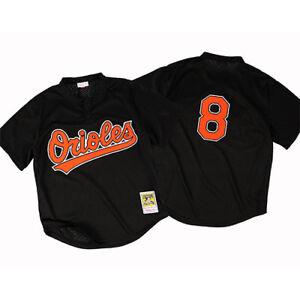 competitive price 1d03d e1189 Details about Mitchell & Ness Baltimore Orioles Cal Ripken Jr Authentic  Mesh BP Black Jersey