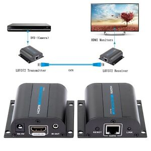 LKV372A-196ft-HDMI-Network-Extender-Over-Single-cable-with-IR-Cat6-6A-3D-1080P