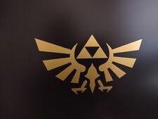 """2 pack Zelda Text cutout Logo Gold metallic vinyl decal 2/"""" x 3//4/"""""""