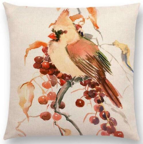 Cover Linen Home Waist Case Cushion Decor Cotton Bird Pillow Tree Cover