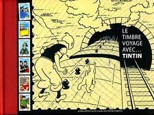 EO HERGE + JEAN-MICHEL COBLENCE + 6 TIMBRES : LE TINTIN VOYAGE AVEC TINTIN
