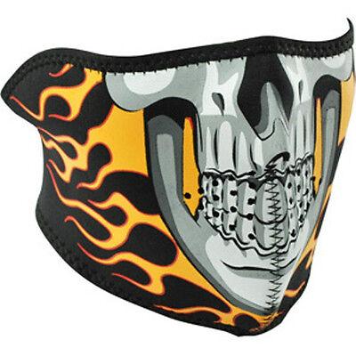 Capsmith Flame Skull Full Face Neoprene Mask Reversable Black Biker ATV Ski