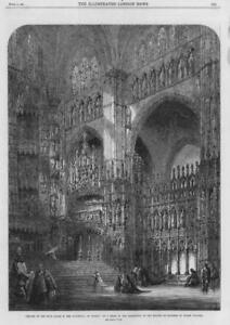 1864 FINE ART Antique Print - Chapel Cathedral Toledo Read Water Colours (139)