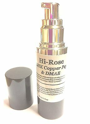 30ml Hi-Rose with Copper Peptides Peptide DMAE MSM RoseHip Omega 3+6 Serum