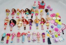 LARGE BUNDLE OF POLLY POCKET DOLL 17 WITH HEADS 9 WITHOUT + ACCESSORIES