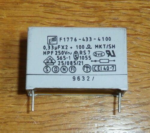 ERO 3 entstörkondensatoren//RC-Maillons 0,33 UF x2 = 3 pc 100 Ohms 250 V