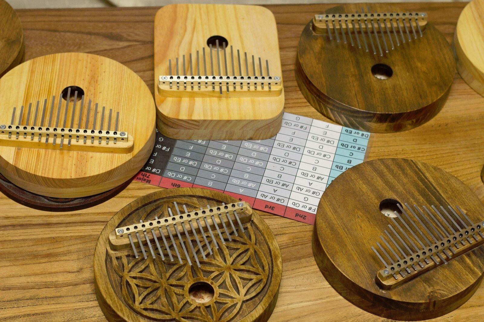 Acoustic Kalimba, 15 key,Proper harmonic design,Mbira,Thumb Piano, Concert