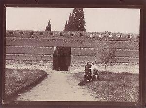Villa Adriana Italia Foto Amateur Viaggio IN Italia 1898 Vintage Citrato