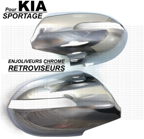 KIA SPORTAGE 2011-15 PROTECTION CACHES CHROME RETROVISEURS contre RAYURES CASSE
