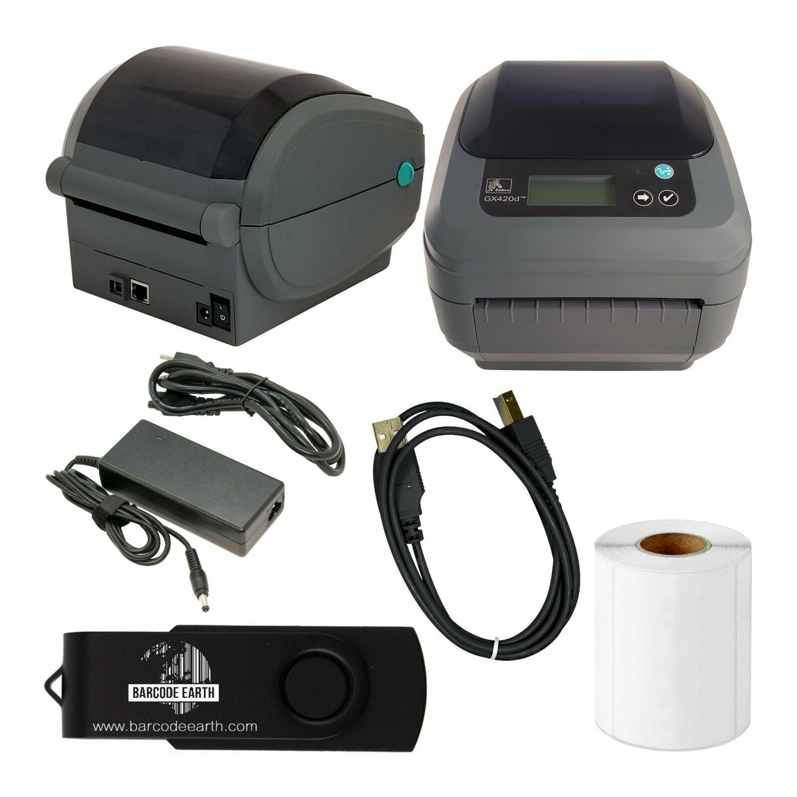 Zebra GX420d Desktop Direct Thermal Label Printer with Ethernet & USB w/ Tech!. Buy it now for 169.99