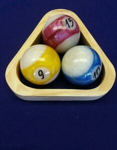 NEW Wooden Ball Rack Pool Table Billiards Great Competitive Game - How to rack a pool table
