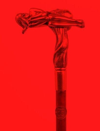 Bastón de Paseo Sexy Bronce Fantasie Mango Flanier Andador Fantasie Bronce Fetiche Accesorios 41e014