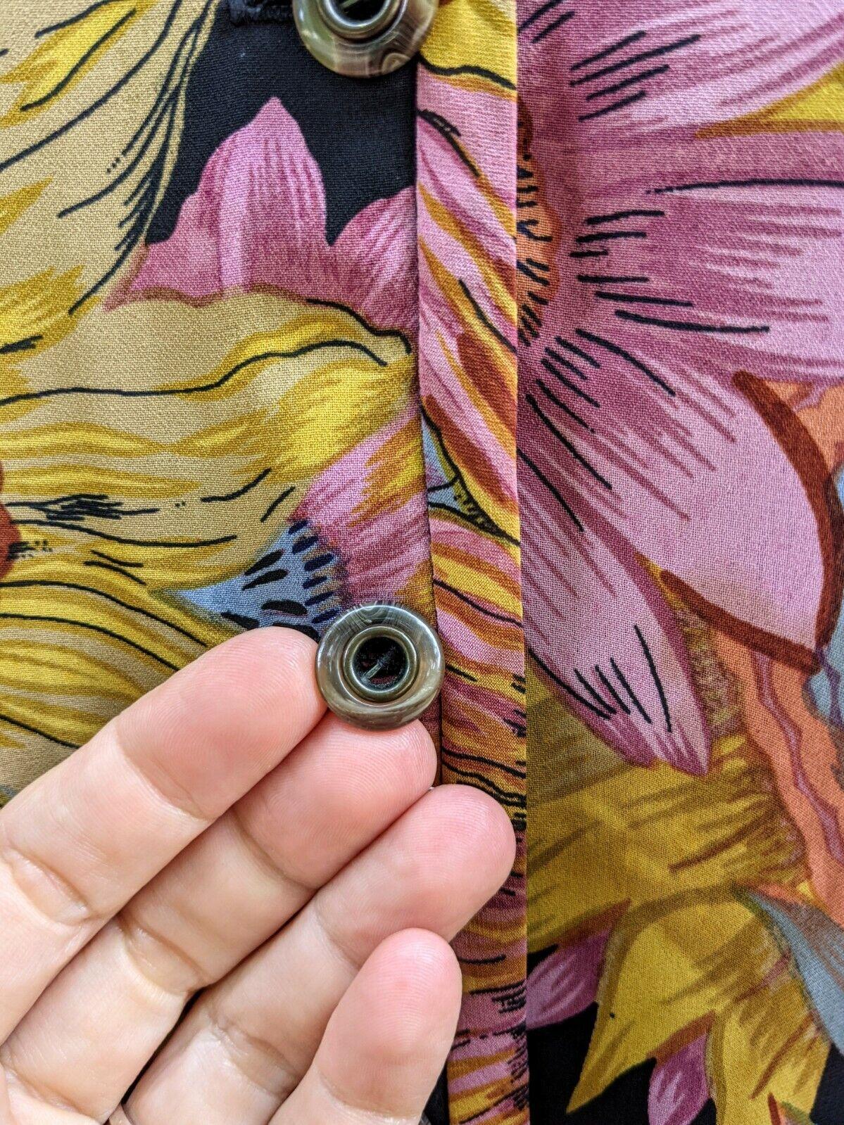 Vtg 90's Midi Dress Sunflowers RARE! Sundress Flo… - image 7