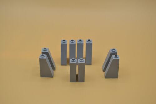 LEGO 10 x Schrägstein 1x2x3 neuhell grau newlight grey gray tilted brick 4460