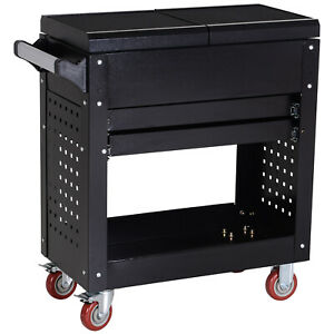 Rolling-Tool-Cart-Toolbox-Tool-Organizer-with-Open-Lid-and-2-Sliding-Drawers