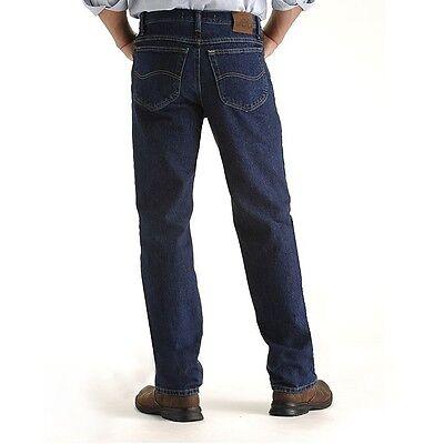 Lee Jeans Blue Dark Stone Mens Regular Fit Straight Leg Men Classic Fit