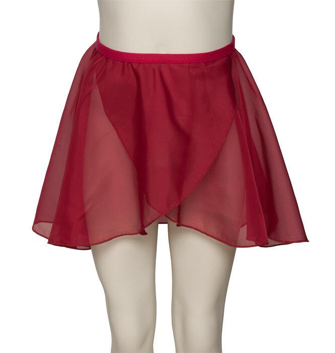 Girls Ladies Plum Dance Ballet Georgette Wrap Over By Katz Dancewear KDGS01