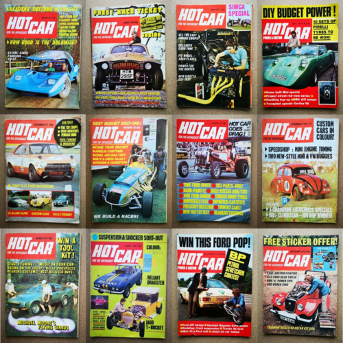 Magazine-Hot-Car-1969-to-1973-Contents-Index-Shown-Various-Issues