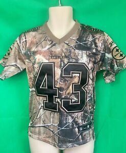 newest 14eba 617f4 Details about J.79 NFL Pittsburgh Steelers Polamalu #43 Realtree Camo  Jersey Small.AWESOME