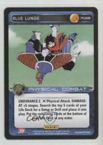 2014-Panini-039-s-Dragonball-Z-TCG-Set-1-Premiere-R128-Blue-Lunge-Gaming-Card-0b5