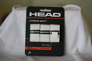 HEAD OVER GRIP XTREME SOFT WHITE, ONE SET OF THREE OVERGRIP