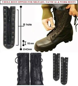 455c9f9a418 Details about Lace In Boot Zipper 9 Hole Combat Boots, Tactical Boots, Work  Boots, Rothco 6195