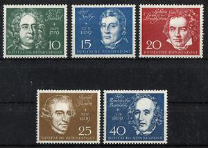 Bund-315-319-sauber-postfrisch-BEM-Block-Nr-2-Einzelmarken-BRD-Beethoven-Block