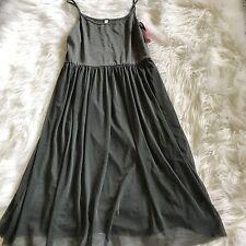 Xhilaration Gray Ballerina Dress Tulle Spaghetti Strap Woman Size Medium