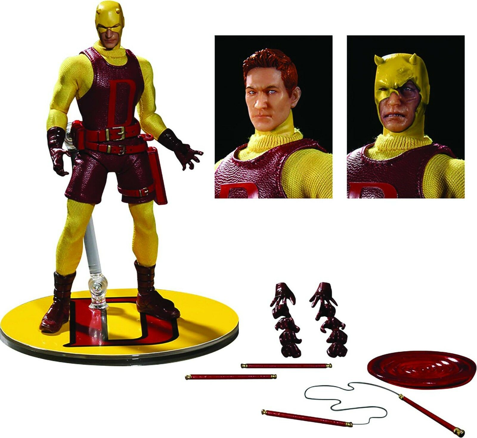 2017 MARVEL COMICS PX MEZCO ONE 12 Collectif  jaune Darougeevil figurine Comme neuf IN BOX  grande vente