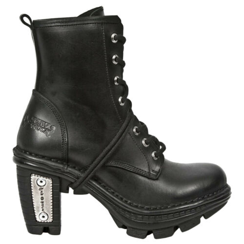 New Rock Neotrail M-NEOTR008-S1 Leather Gothic Punk Ankle Womens Boots