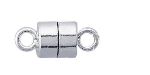 Fuerte 925 Plata Esterlina Collar Pulsera De Cierre Magnético 8 Mm-Entrega Gratis