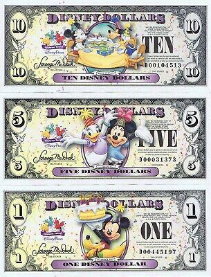 Tinker Bell Million Dollar Novelty Notes Ariel 4 Bills Cinderella Snow White