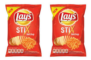 2 X Lays Stix Ketchup Flavor Potato Chips Crisps French