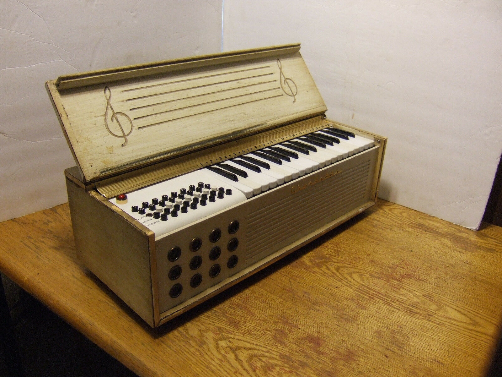 1950s Chordette By Excelsior Chord Organ  Wooden