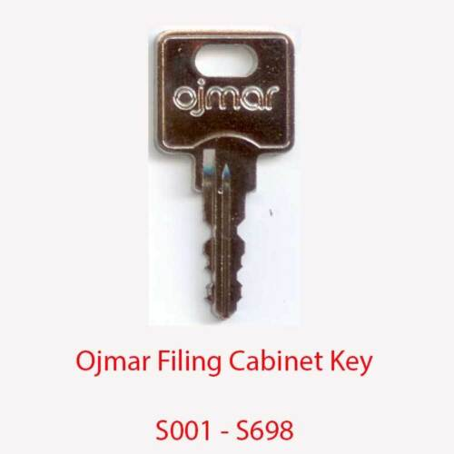 Ojmar Replacement Filing Cabinet Key S001 S698