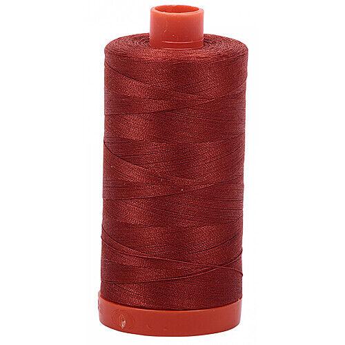Aurifil Mako Cotton Thread Solid 50wt 1422yds Antique Rose