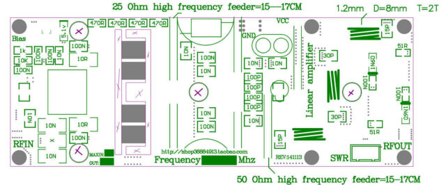 100w FM VHF 80mhz-170mhz RF Power Amplifier Board Amp DIY Kits for on hi fi amplifier, solid state hf amplifier, transistor amplifier, x force base amplifier, 2 meter ham radio amplifier, 4cx250b grounded grid amplifier, homemade amplifier, cobra cb amplifier, fatboy 700 base amplifier,