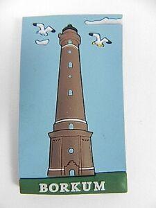 Magnet-Leuchtturm-Borkum-Deutschland-Germany-Souvenir-Gummimagnet