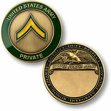 U.S. Army Seal / Private - Brass Challenge Coin