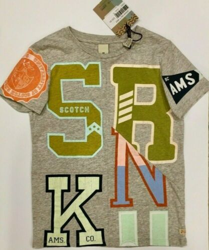 8-10-12-14 Boys University T-Shirt NWT Scotch Shrunk by Scotch /& Soda Sizes